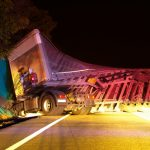 A Rollover Truck Crash on I-294 Left a Truck Driver Dead and 2 Injured